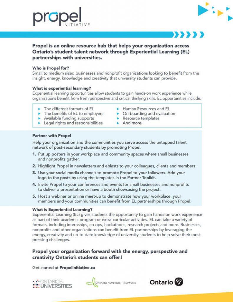 Propel Partnership Flyer: blue