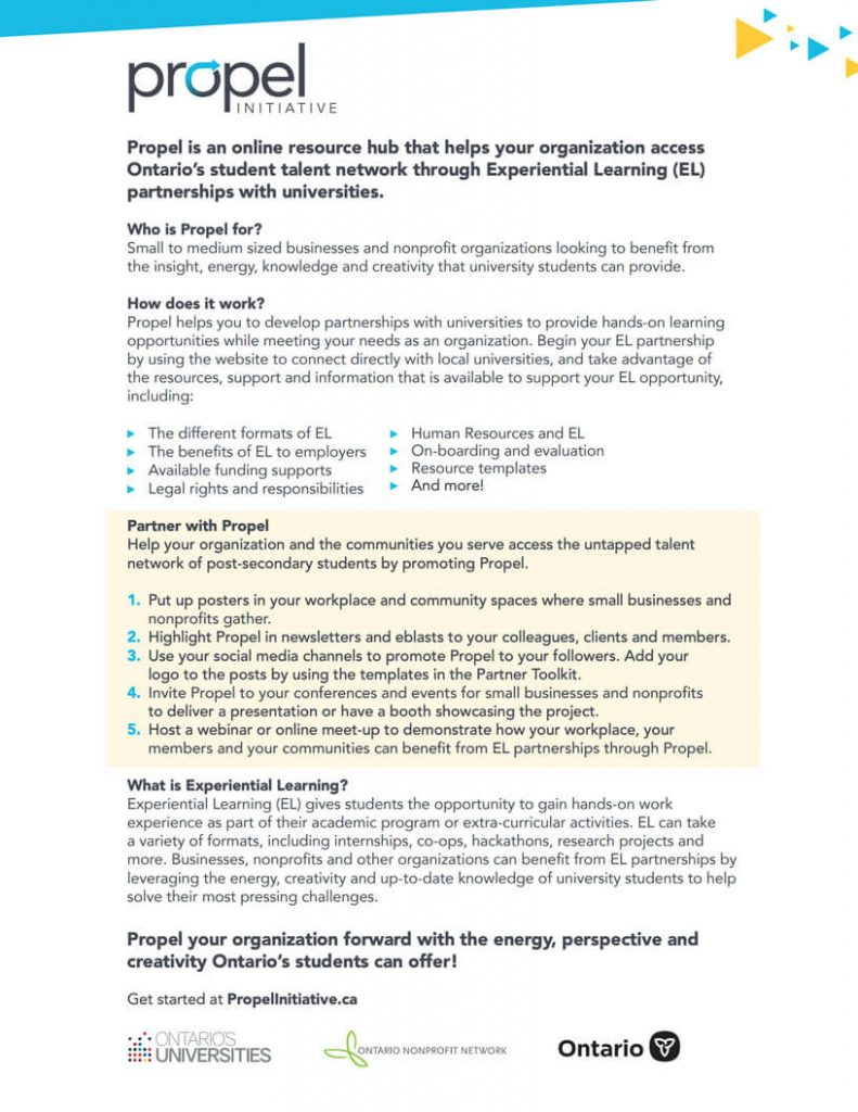 Propel Partnership Flyer: yellow