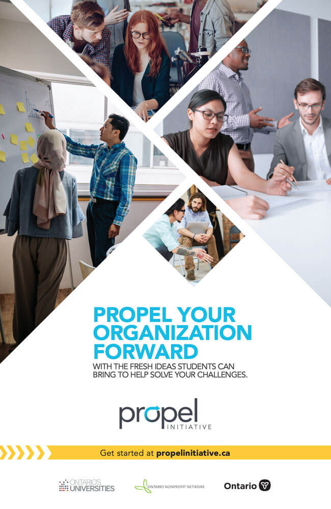 Propel Social Card: With fresh ideas - big poster type-2